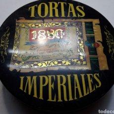 Cajas y cajitas metálicas: CAJA CHAPA TORTAS IMPERIALES 1880. Lote 114005940
