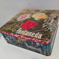 Cajas y cajitas metálicas: GALLETAS FONTANEDA, CAJA DE LATA LITOGRAFIADA. Lote 114478095