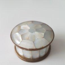 Cajas y cajitas metálicas: PASTILLERO NACAR. Lote 114606248