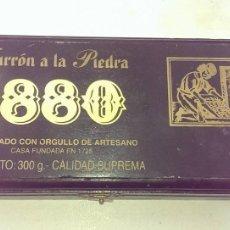 Cajas y cajitas metálicas: CAJA TURRON 1.880 EN MADERA. Lote 114858167