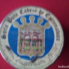 Cajas y cajitas metálicas: BONTA LATA LITOGRAFIADA ANTIGUA DE MANTEQUERIAS GUAYALERIN SORIA PURA CABEZA DE EXTREMADURA. Lote 114904327