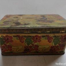 Cajas y cajitas metálicas: CAJA DE GALLETAS OLIBET,RENTERÍA,GUIPÚZCOA,. Lote 115125763