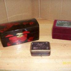 Cajas y cajitas metálicas: LOTE DE 3 CAJAS ANTIGUAS. Lote 115326063