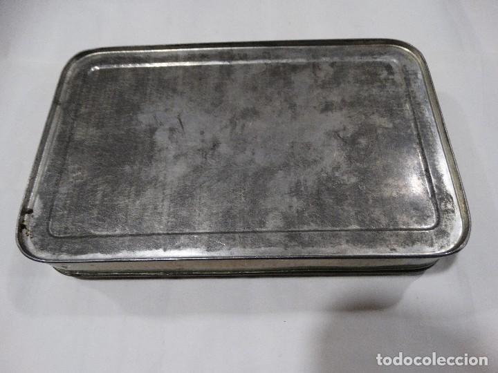 Cajas y cajitas metálicas: CAJA LITOGRAFIADA DE HOJALATA FABRICA DE DULCE Y JALEA DE MEMBRILLO - PUENTE GENIL - Foto 5 - 115599667