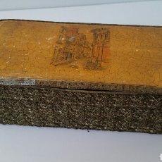Cajas y cajitas metálicas: FORN SANT JAUME - EXCEPCIONAL CAJA CARTÓN DURO Y PASAMANERÍA GRAN TAMAÑO. Lote 115683864