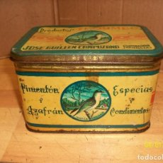 Cajas y cajitas metálicas: CAJA METALICA: PRODUCTOS EL CHIMBO-JOSE GUILLEN CAMPUZANO-ESPINARDO-MURCIA. Lote 116870975