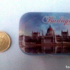 Cajas y cajitas metálicas: CAJITA METÁLICA: RECUERDO BUDAPEST PARLLAMENT. Lote 117243707