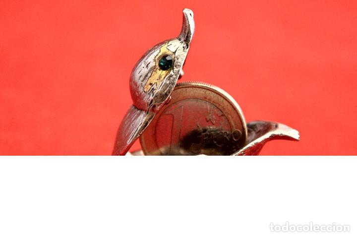 Cajas y cajitas metálicas: CAJITA METÁLICA EN MINIATURA CAJA SECRETO EN FORMA DE PAJARITO - Foto 6 - 55304413