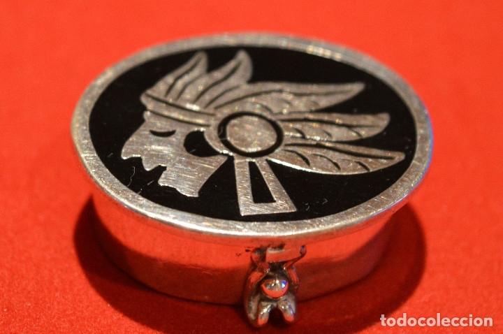 Cajas y cajitas metálicas: CAJITA PASTILLERO DE PLATA DE 1º DE LEY 925 MOTIVO MAYA - Foto 2 - 96199015