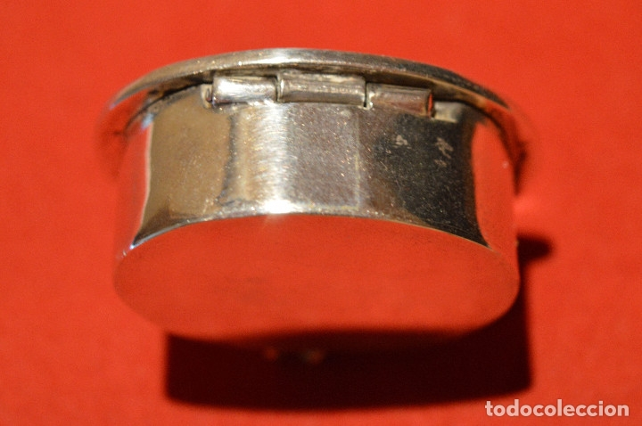 Cajas y cajitas metálicas: CAJITA PASTILLERO DE PLATA DE 1º DE LEY 925 MOTIVO MAYA - Foto 4 - 96199015