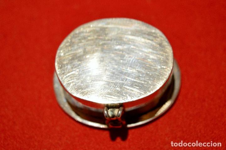 Cajas y cajitas metálicas: CAJITA PASTILLERO DE PLATA DE 1º DE LEY 925 MOTIVO MAYA - Foto 5 - 96199015