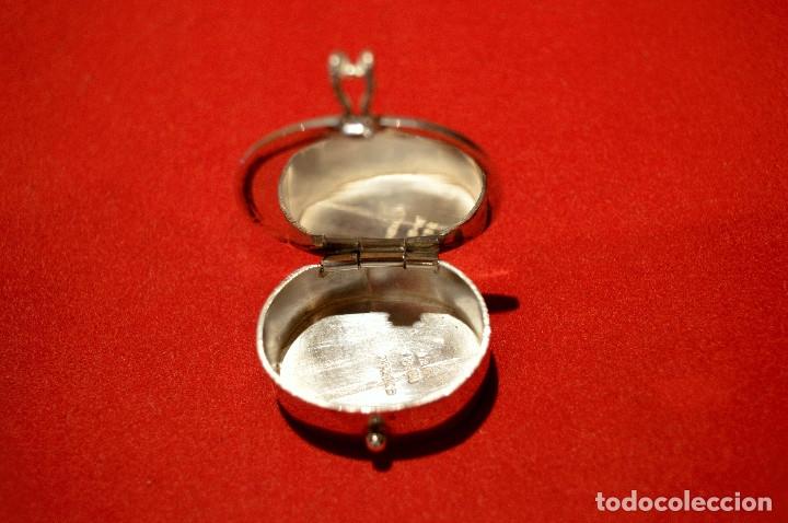 Cajas y cajitas metálicas: CAJITA PASTILLERO DE PLATA DE 1º DE LEY 925 MOTIVO MAYA - Foto 6 - 96199015