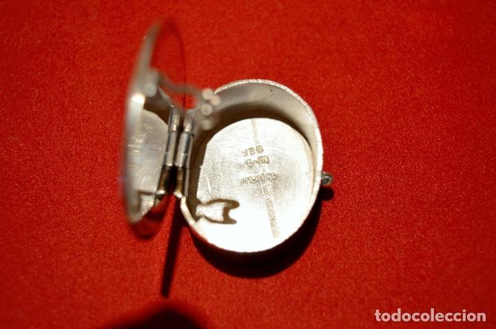 Cajas y cajitas metálicas: CAJITA PASTILLERO DE PLATA DE 1º DE LEY 925 MOTIVO MAYA - Foto 7 - 96199015