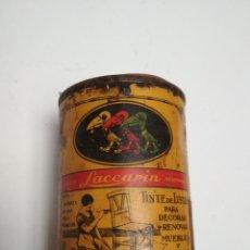 Cajas y cajitas metálicas: LATA BOTE TINTE LACCARIN. AÑOS 50/60. Lote 117354855