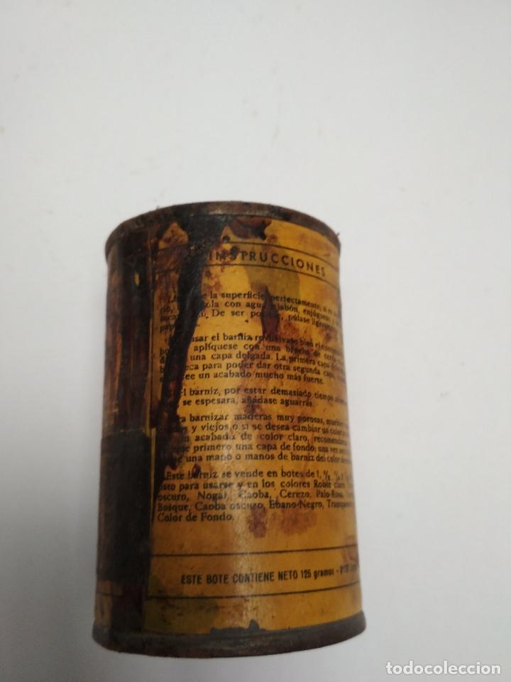 Cajas y cajitas metálicas: LATA BOTE TINTE LACCARIN. Años 50/60 - Foto 2 - 117354855