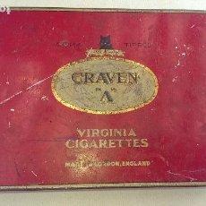 Cajas y cajitas metálicas: CAJA CIGARROS INGLESES CRAVEN A. Lote 117794711