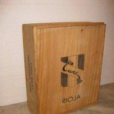 Cajas y cajitas metálicas: CAJA DE MADERA DE VINOS ** VINOS CUNE -- RIOJA **. Lote 117883567