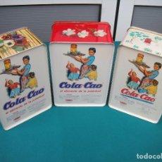 Cajas y cajitas metálicas: LOTE 3 LATAS DE COLA-CAO. Lote 118077391