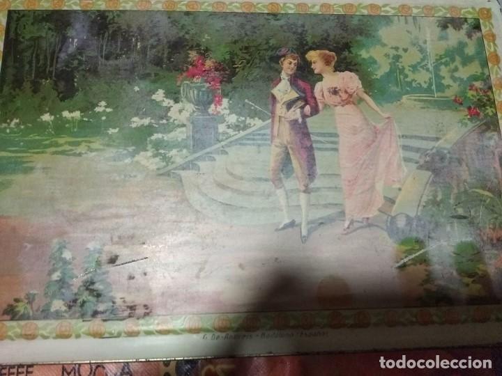 Cajas y cajitas metálicas: ANTIGUA CAJA DE HOJALATA LITOGRAFIADA REALIZADA POR G. DE ANDREIS DE BADALONA - Foto 2 - 118093995
