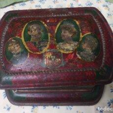 Cajas y cajitas metálicas: CAJA GALLETAS OLIBET RENTERIA. Lote 118261127