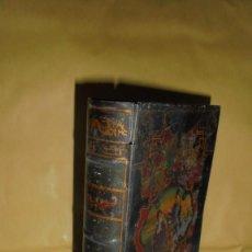 Cajas y cajitas metálicas - (M) ALCALA DE HENARES- CONFITERIA DE MARON , ANTIGUA CAJA LITOGRAFIADA FORMA DE LIBRO - 118283407