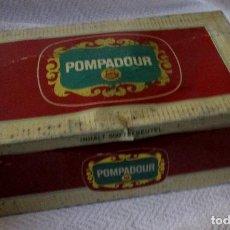 Cajas y cajitas metálicas: ANTIGUA CAJA DE HOJALATA DE 500 SOBRES DE TE POMPADOUR . 31X 11X 20 CM. Lote 118622027