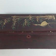 Cajas y cajitas metálicas: CAJA DE MADERA LACADA. JAPÓN. SIGLO XX.. Lote 118870831