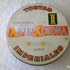 Cajas y cajitas metálicas: CAJA - LATA TORTAS IMPERIALES ANTIU XIXONA - TURRONES - SANCHIS MIRA - JIJONA. Lote 119361919