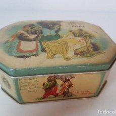 Cajas y cajitas metálicas: CAJITA HOJALATA CHOCOLATE BELGA. Lote 119416611