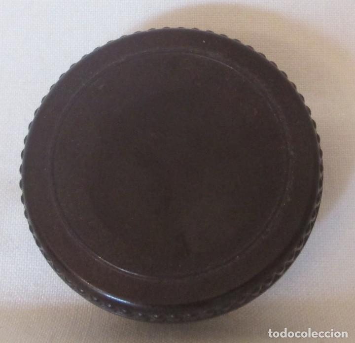 Cajas y cajitas metálicas: Antigua cajita redonda en baquelita marrón - Foto 4 - 119461683