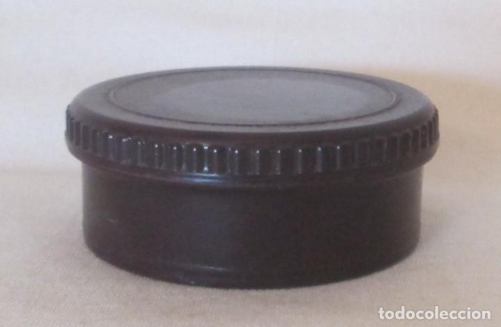 Cajas y cajitas metálicas: Antigua cajita redonda en baquelita marrón - Foto 5 - 119461683