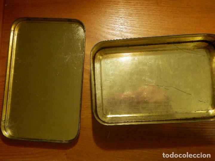 Cajas y cajitas metálicas: ANTIGUO CAJA METÁLICA - CREMA DE MEMBRILLO - LA FAMA - 18 X 11 CM. X 4 CM. ALTO - Foto 7 - 119584615