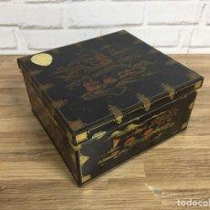 Cajas y cajitas metálicas: LATA METÁLICA ORIENTAL CASQUET BY HUNTLEY&PALMERS ENGLAND AÑOS 50. Lote 119960240