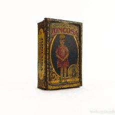 Cajas y cajitas metálicas: CHOCOLATE JUNCOSA - ANTIGUA CAJITA METAL LITOGRAFIADO. Lote 120755339