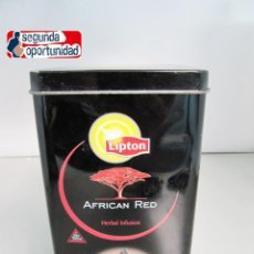 Cajas y cajitas metálicas: LATA CAJA METÁLICA DE LIPTON - TEA AFRICAN RED. TAMAÑO 19,5X10,5 CM. Lote 121083223