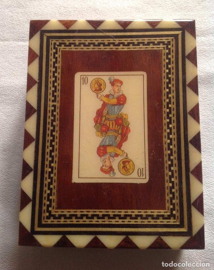 ANTIGUA CAJA MADERA PARA GUARDAR CARTAS (Coleccionismo - Cajas y Cajitas Metálicas)