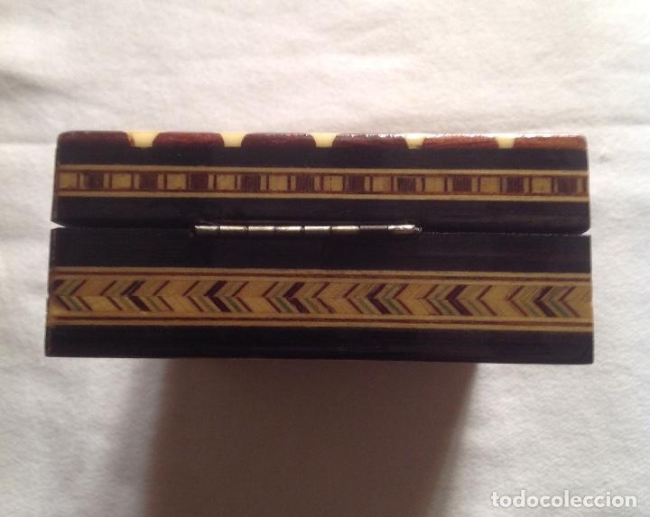 Cajas y cajitas metálicas: ANTIGUA CAJA MADERA PARA GUARDAR CARTAS - Foto 5 - 121377187