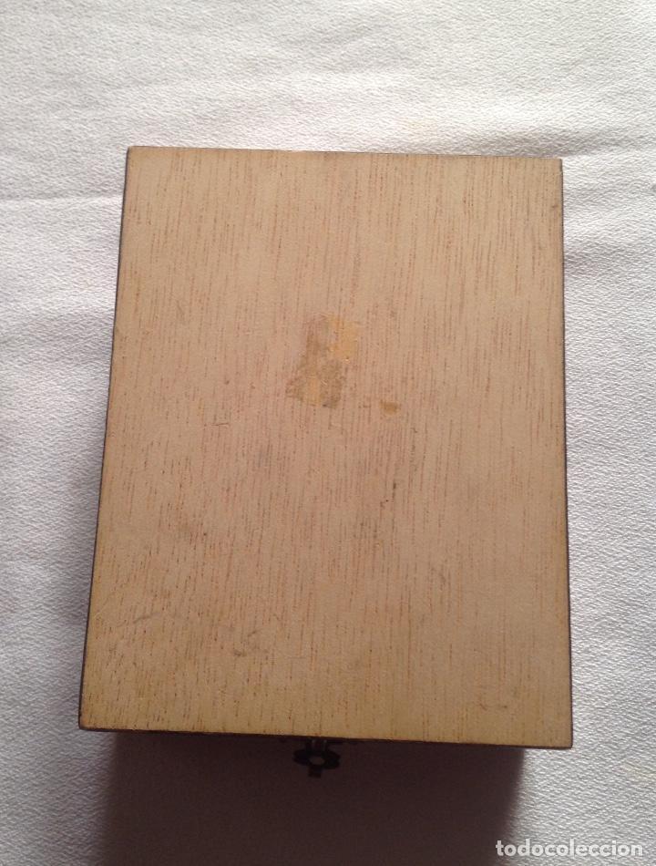 Cajas y cajitas metálicas: ANTIGUA CAJA MADERA PARA GUARDAR CARTAS - Foto 6 - 121377187