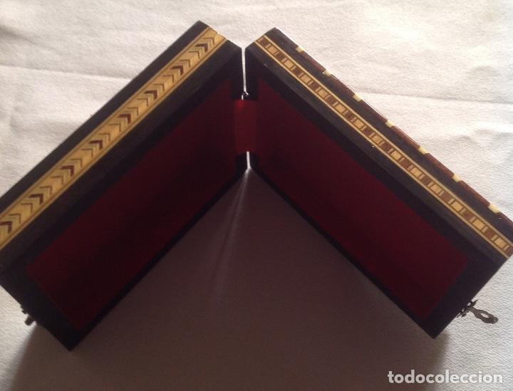 Cajas y cajitas metálicas: ANTIGUA CAJA MADERA PARA GUARDAR CARTAS - Foto 10 - 121377187