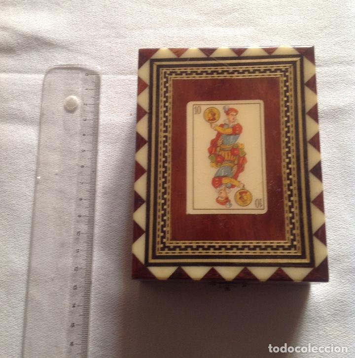 Cajas y cajitas metálicas: ANTIGUA CAJA MADERA PARA GUARDAR CARTAS - Foto 2 - 121377187