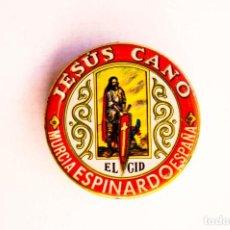 Cajas y cajitas metálicas: ESPINARDO (MURCIA). J. CANO. CAJITA PARA MUESTRAS DE PIMENTÓN. DIÁMETRO. 5,5 CM. ALTO 1,6 CM.. Lote 145071100
