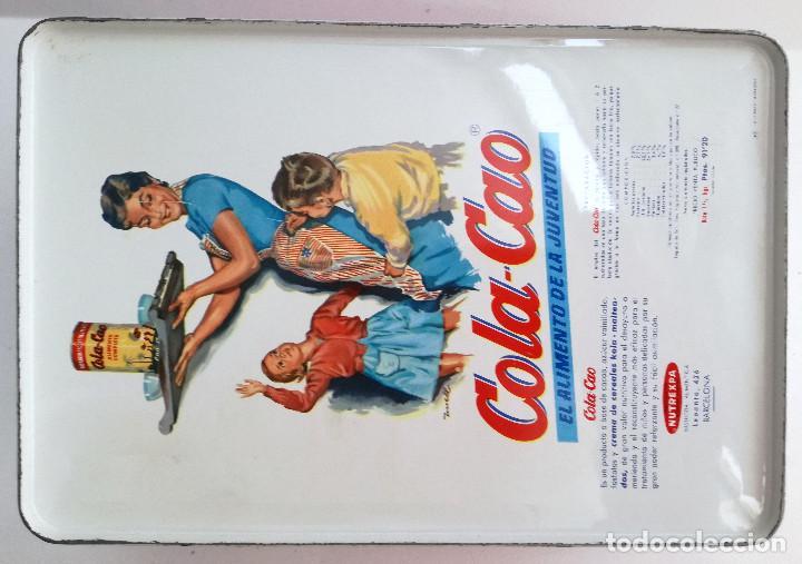Cajas y cajitas metálicas: Lata Cola-Cao color granate motivos chinos - Foto 3 - 121719855