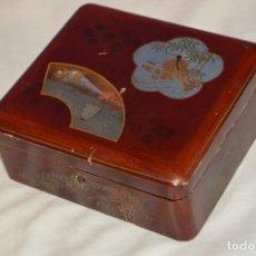 Cajas y cajitas metálicas: VINTAGE - ANTIGUA CAJA LACADA PERFUMERÍAS GAL MADRID - AÑOS 30 / 40 - EN MADERA - PRECIOSA. Lote 121720359