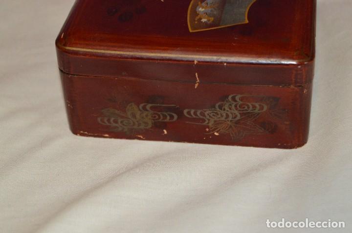 Cajas y cajitas metálicas: Vintage - ANTIGUA CAJA LACADA PERFUMERÍAS GAL MADRID - AÑOS 30 / 40 - EN MADERA - PRECIOSA - Foto 3 - 121720359