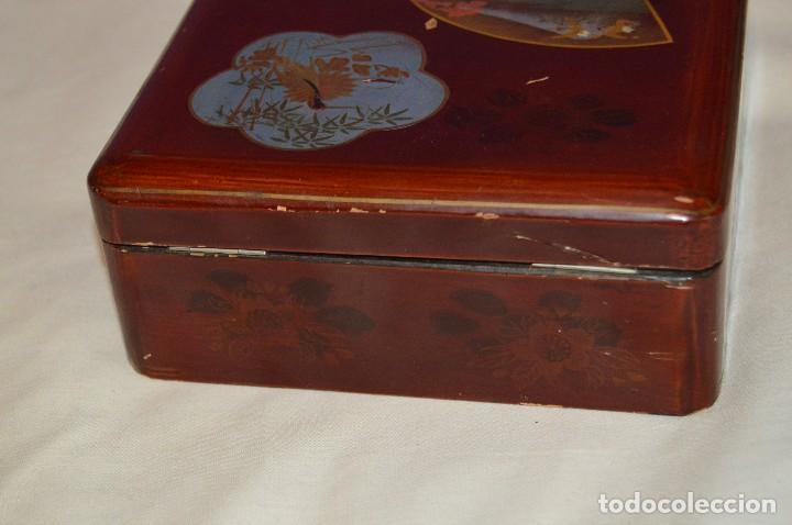 Cajas y cajitas metálicas: Vintage - ANTIGUA CAJA LACADA PERFUMERÍAS GAL MADRID - AÑOS 30 / 40 - EN MADERA - PRECIOSA - Foto 4 - 121720359