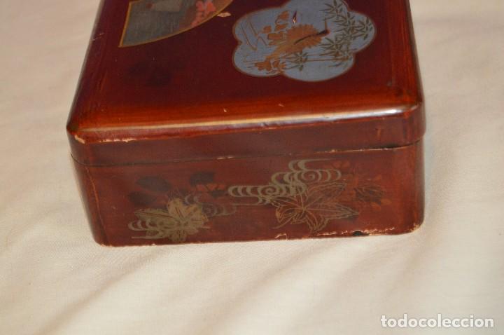 Cajas y cajitas metálicas: Vintage - ANTIGUA CAJA LACADA PERFUMERÍAS GAL MADRID - AÑOS 30 / 40 - EN MADERA - PRECIOSA - Foto 5 - 121720359