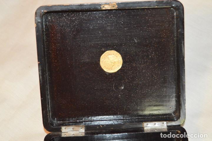 Cajas y cajitas metálicas: Vintage - ANTIGUA CAJA LACADA PERFUMERÍAS GAL MADRID - AÑOS 30 / 40 - EN MADERA - PRECIOSA - Foto 8 - 121720359