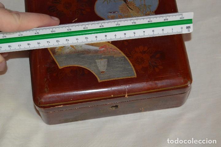Cajas y cajitas metálicas: Vintage - ANTIGUA CAJA LACADA PERFUMERÍAS GAL MADRID - AÑOS 30 / 40 - EN MADERA - PRECIOSA - Foto 10 - 121720359