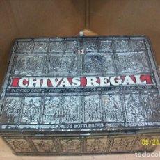 Cajas y cajitas metálicas: CAJA DE HOJALATA - CHIVAS REGAL-. Lote 122004911
