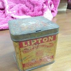 Cajas y cajitas metálicas: CAJA ANTIGUA TÉ LIPTON. Lote 122611652